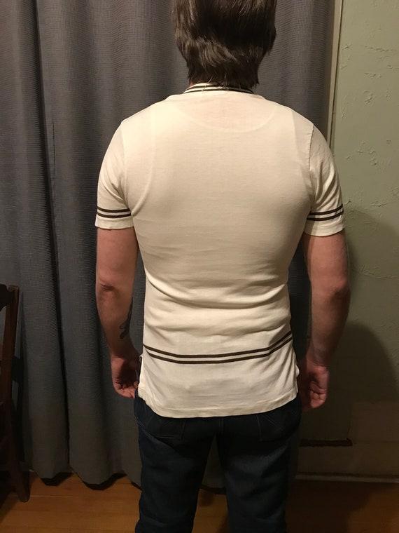 RARE 50s Men's Casual V-Neck Shirt by Jantzen/ Vi… - image 6