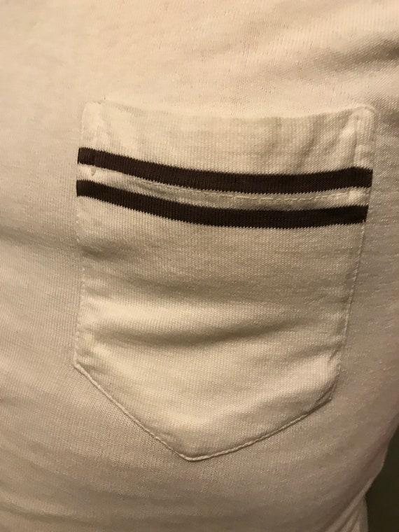 RARE 50s Men's Casual V-Neck Shirt by Jantzen/ Vi… - image 5
