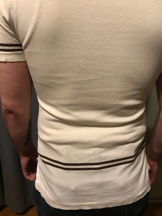 RARE 50s Men's Casual V-Neck Shirt by Jantzen/ Vi… - image 8