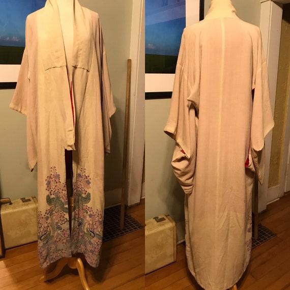 Mid-Century Japanese Kimono Robe done in gorgeous… - image 2