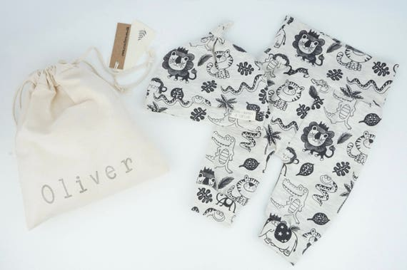 610e13c9216 Baby Clothes Personalised Baby Gift Set Jungle Animals