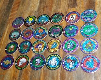 Imperial 1994 Slammer Whammers #1 - #24 Set Foil Flash caps milk pogs whammer
