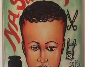 West African Barber Shop Sign