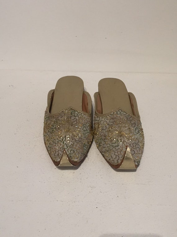 Indian Embroidered Harem Slippers