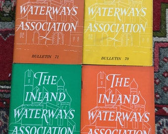Inland Waterways Association vintage Bulletin booklets, IWA booklets