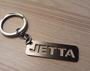 VW Volkswagen Jetta Keychain VW Key Tag Keychain for VW Jetta Stainless  Steel Key chain Lasercut Key Ring Personalized Vw Keychain 1d1f94bb1af7