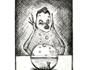 Original Print: Fish Face