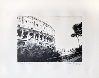 Limited Edition Lithograph Print - The Colosseum