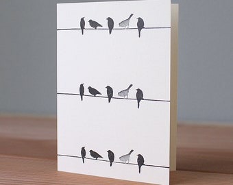 Handmade Birds-on-a-Wire Card