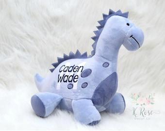 Birth Announcement Dinosaur,Birth Stat Dinosaur,Keepsake Plush,New Baby Gift,Personalized Plush,Birth Stat Plush,Personalized Dinosaur
