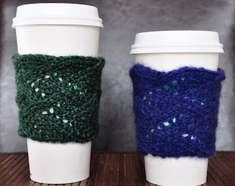 Lace Knit Coffee Cup Sleeves