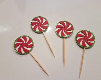 Christmas Cupcake Toppers, Cupcake Toppers, X-Mas topper