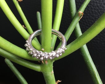 granulated statement ring