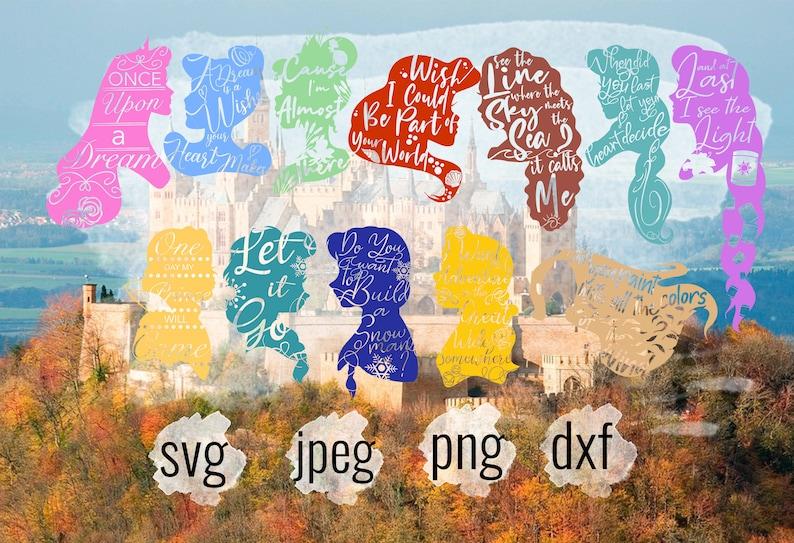 Disney bundle clip art Disney Vector Prince SVG Disney Silhouette Bundle Svg Disney Castle Svg Princess Svg Villians Svg Cut Files