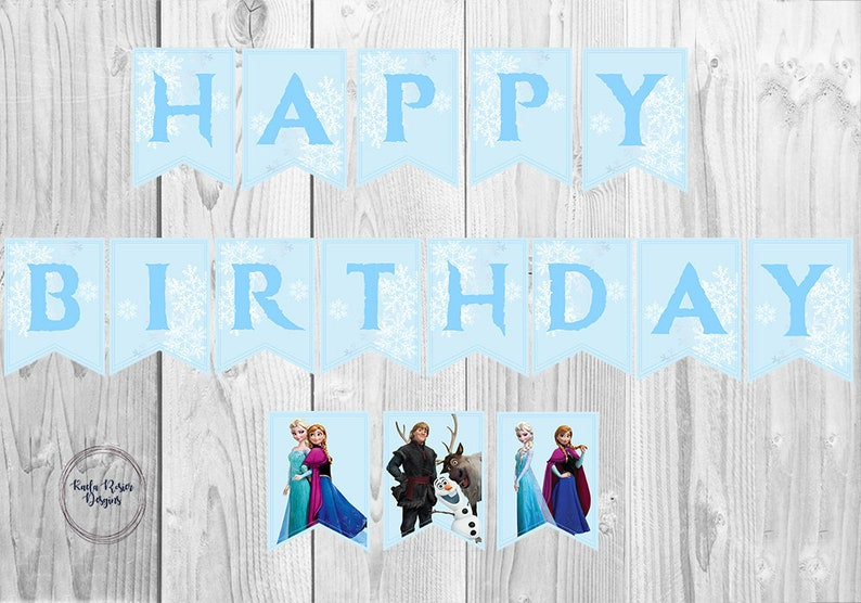 graphic about Frozen Banner Printable known as Frozen Birthday Banner, Frozen Princess Banner, Disney Frozen Princess Banner, Printable birthday banner, Birthday Celebration Banner