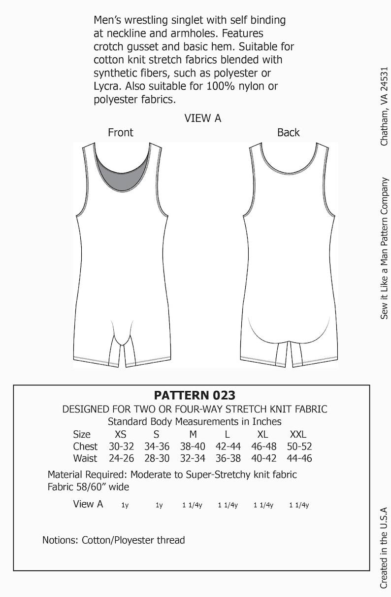 1930s Men's Clothing Mens Wrestling Singlet Sewing Pattern PDF $8.00 AT vintagedancer.com