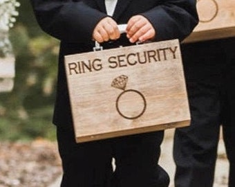 FREE SHIPPING - Custom Ring Security Boxes - Option to Personalize