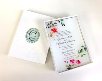 Personalized Glass Trinket Tray, Wedding Invitation Keepsake, Photo Keepsake Gift, Cameoglassprints