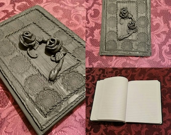 Simple Gothic Rose Notebook Cover