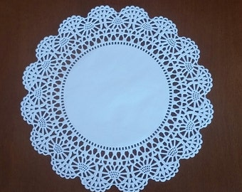 """20 or 50 Round 6"""" Intricate lace edge paper doilies"""