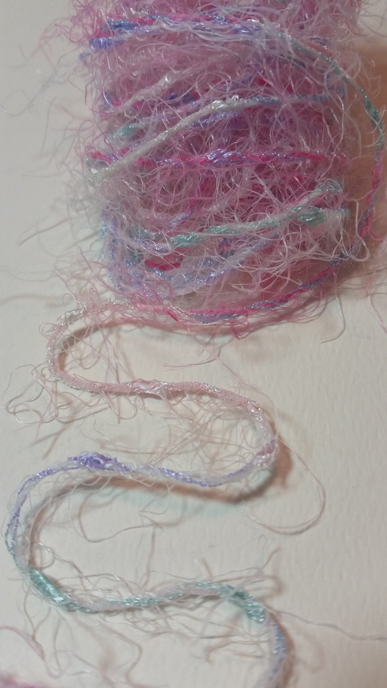 FibersEyelash Trim Tags Altered Art TN Planners Card Making Scrapbooks Collage Super Soft Pastels for use in Journals Mixed Media