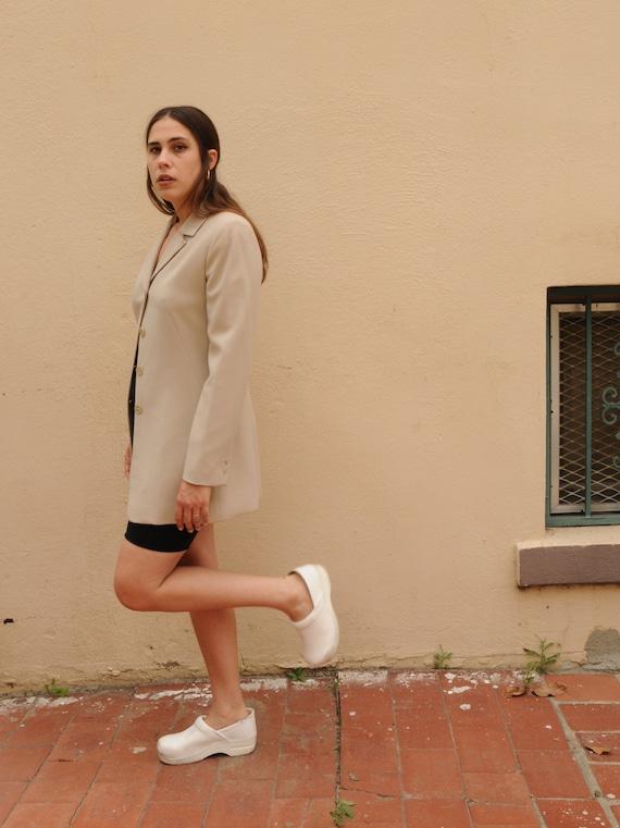 M 90s Calvin Klein fitted blazer / beige dress coa