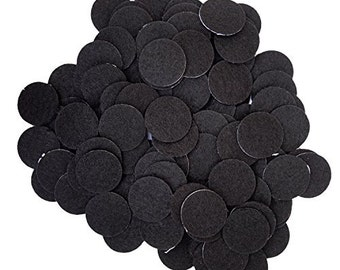 "25 pieces 1.5/"" gray ADHESIVE felt circles"