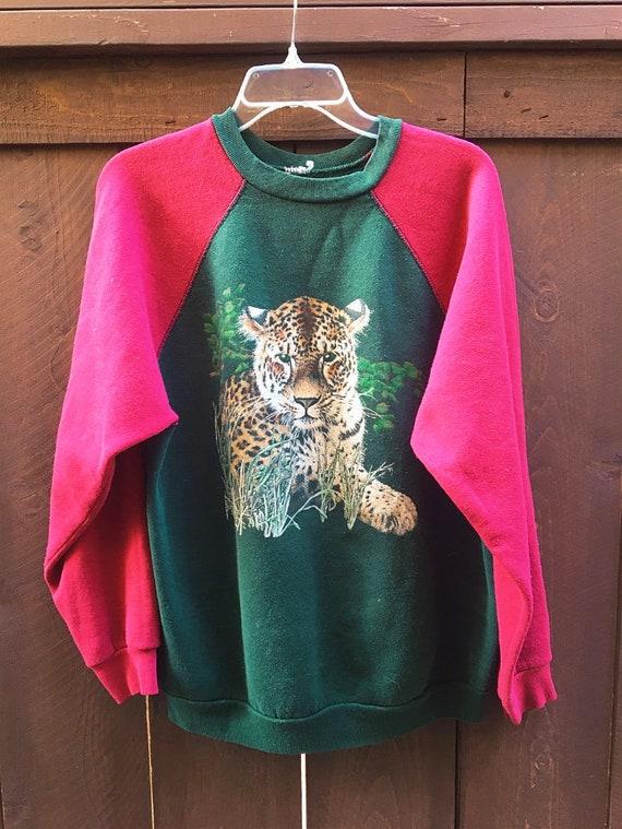 80s/90s Vintage Tiger Raglan Crewneck Pullover Swe