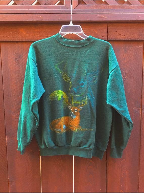 80s/90s Vintage Deer Raglan Crewneck Sweatshirt