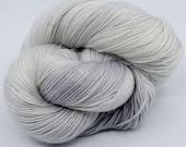 Kitten- Subtle Hand Dyed Yarn - Merino Bamboo Silk Yarn - Pokolbin Sock Yarn - 4 Ply - Fingering Yarn - Hand Dyed Sock Yarn - Silver Grey