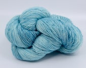 Poolside - Sock Yarn - Hand Dyed Variegated Yarn - Speckled Yarn - Single Ply Superfine Merino Nylon Yarn - Fingering Hand Dyed Yarn