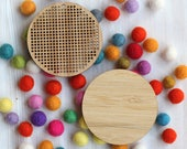 Blank Round Cross Stitch Pendant & Backing - DIY Embroidery Blank - Bamboo Learn to Stitch