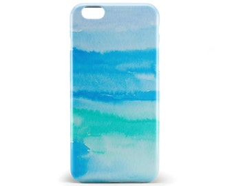 1362 // Blue Green Watercolor Paint Phone Case iPhone 5/5S, 6/6S, 6+/6S+ Samsung Galaxy S5, S6, S6 Edge Plus, S7