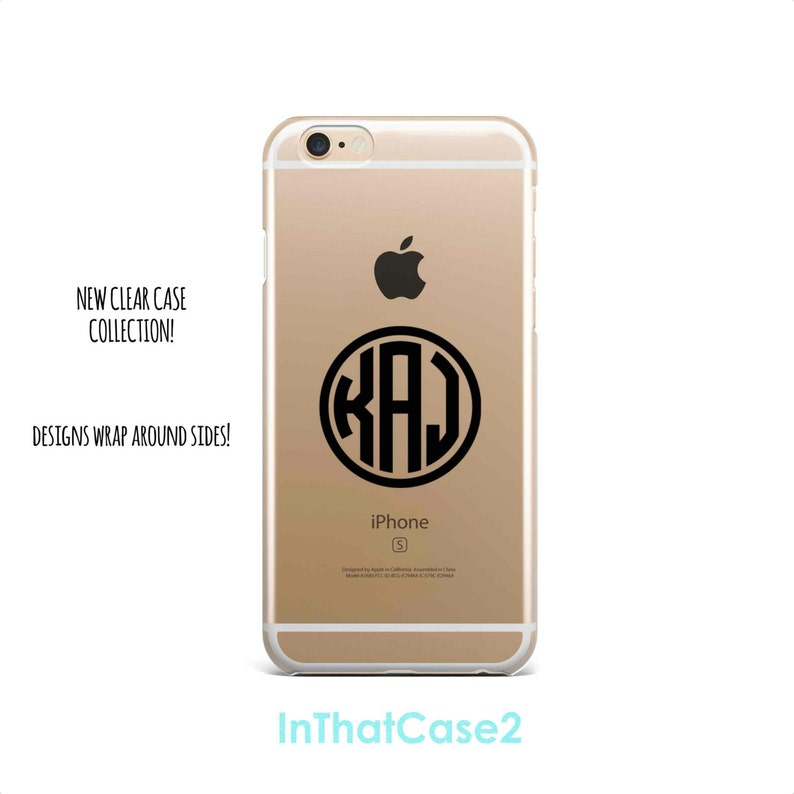 5019 clear case custom circle monogram customize etsyCases Iphone 6 Plus Iphone 6 Plus 6 Plus Case Custom Iphone Case Maker Iu Phone Case Fashion #3