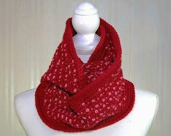 Infinity Scarf, Cranberry Scarf, Raspberry Scarf, Women's Scarf, Shawl Scarf, Women's Shawl, Gifts for her