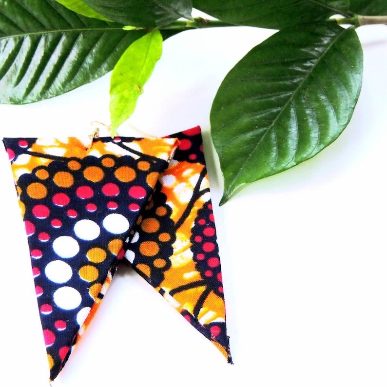 Polka African Print Earrings image 0