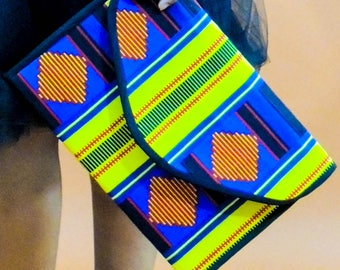 Shay African Print Clutch