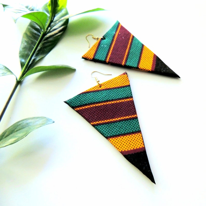 Sawdah African Print Earrings image 0