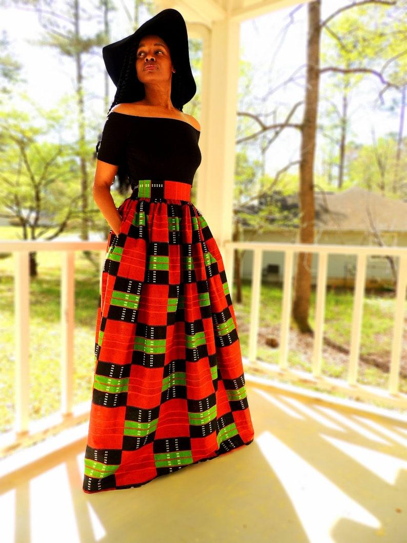 Rouge Maxi Skirt image 0