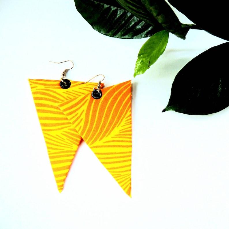 Sunshine Animal Print Triangular Earrings image 0