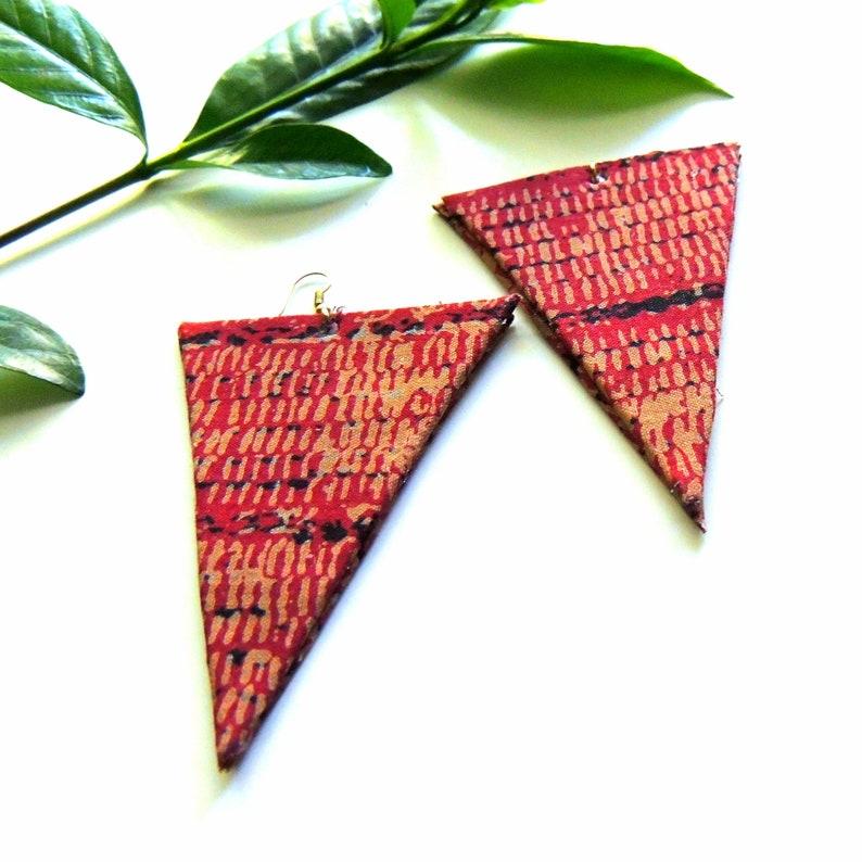 Mair African Print Earrings image 0