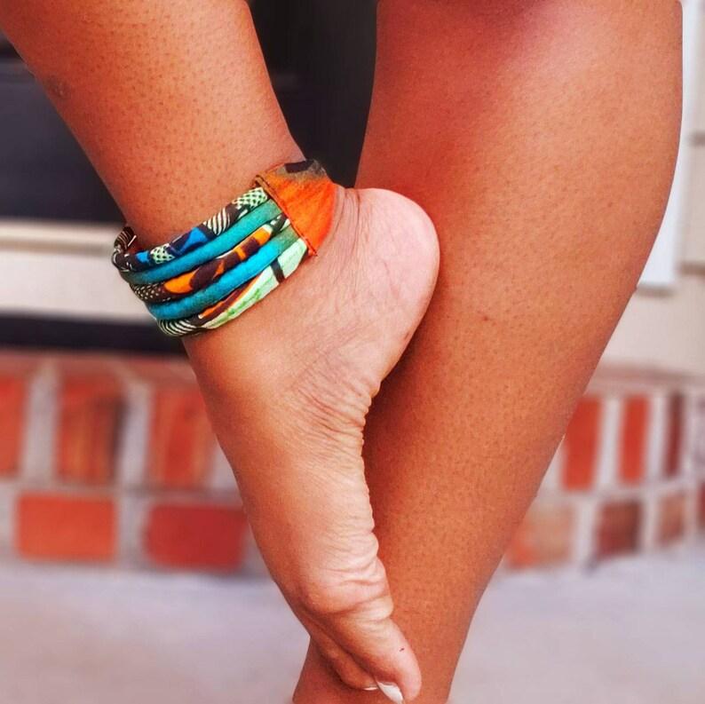Orange Shine Ankle Bracelet image 0