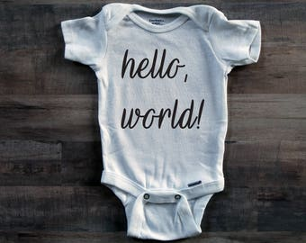 Hello, World! Onesie