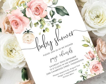 floral baby shower etsy