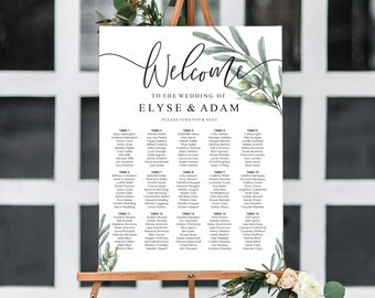 wedding seating chart etsy