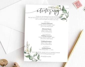 bachelorette itinerary template etsy