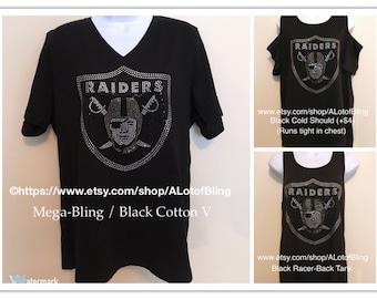 Raiders Mega-Bling Rhinestone T-Shirt 0efb114e8