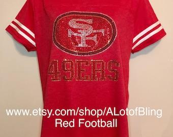 9f389cd87d1 San Francisco 49ers Rhinestone T-Shirt