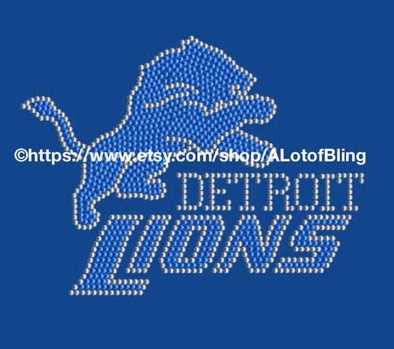 best service 03db5 f0d02 Detroit Lions Rhinestone T-Shirt