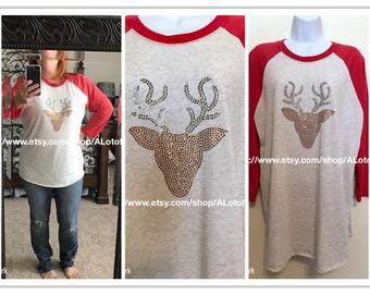 Reindeer/Deer Rhinestone T-Shirt
